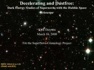 Decelerating and Dustfree:  Dark Energy Studies of Supernovae with the Hubble Space Telescope