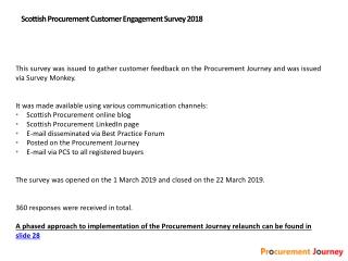 Scottish Procurement Customer Engagement Survey 2018