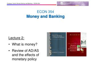 ECON 354 Money and Banking