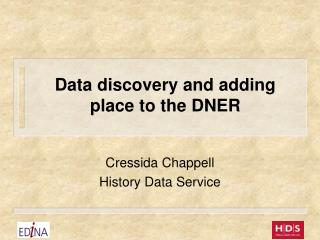 Data discovery and adding place to the DNER