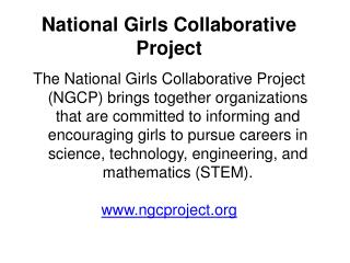 National Girls Collaborative Project