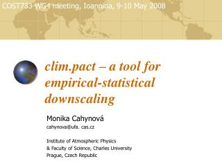 clim.pact – a tool for empirical - statistical downscaling