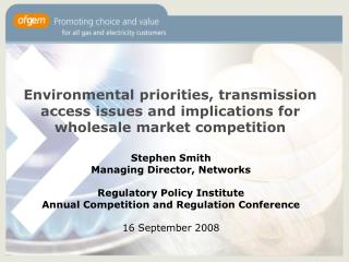 Stephen Smith Managing Director, Networks Regulatory Policy Institute