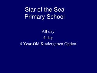 Star of the Sea Primary School