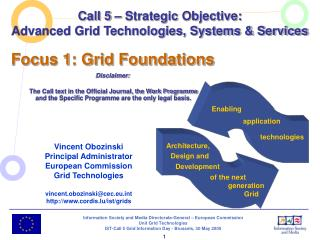 Call 5 – Strategic Objective: Advanced Grid Technologies, Systems & Services