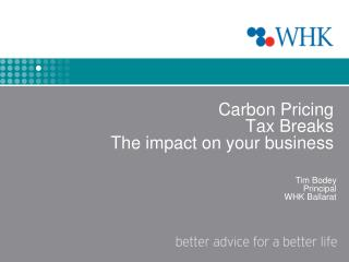 Carbon Pricing Tax Breaks The impact on your business