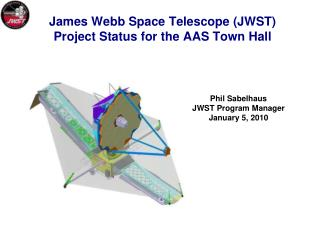 James Webb Space Telescope (JWST) Project Status for the AAS Town Hall