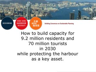 How to build capacity for  9.2 million residents and 70 million tourists  in 2030