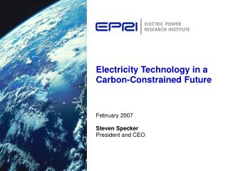 Electricity Technology in a Carbon-Constrained Future
