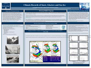 Climate Records of Snow, Glaciers and Sea Ice