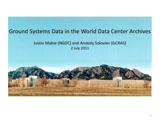 Ground Systems Data in the World Data Center Archives