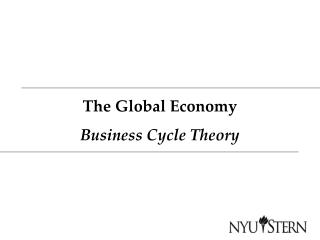 The Global Economy Business Cycle Theory