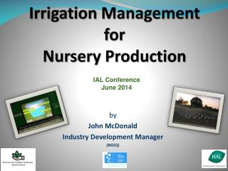 Irrigation Management for  Nursery Production