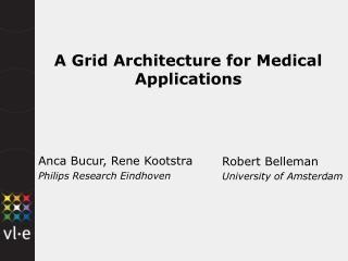 A Grid Architecture for Medical Applications