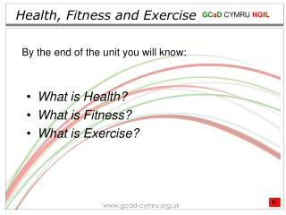 Health, Fitness and Exercise