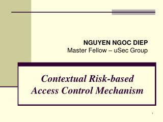 Contextual Risk-based  Access Control Mechanism