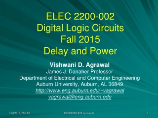 LECTURE 10   DIGITAL ELECTRONICS