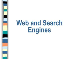 Web and Search Engines