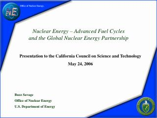Office of Nuclear Energy,