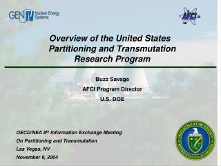 Overview of the United States   Partitioning and Transmutation Research Program