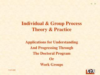 Individual & Group Process Theory & Practice