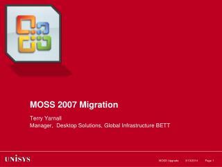 MOSS 2007 Migration