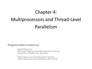 Chapter 4:  Multiprocessors and Thread-Level Parallelism