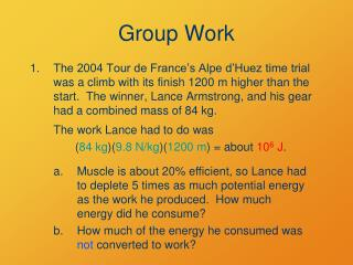 Group Work