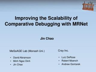 Improving the Scalability of Comparative Debugging with MRNet