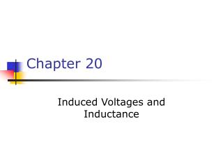 Induced Voltages and Inductance