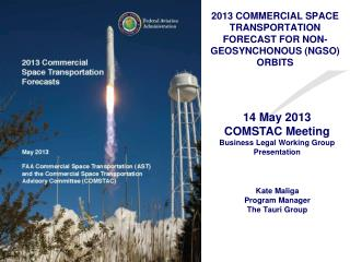 2013 COMMERCIAL SPACE TRANSPORTATION FORECAST FOR NON-GEOSYNCHONOUS (NGSO) ORBITS