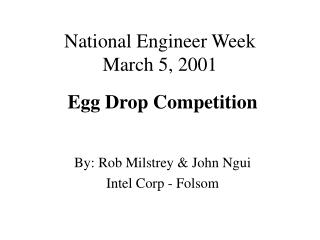National Engineer Week March 5, 2001