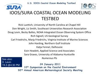 24 January 2011 10 th  Symposium on the Coastal Environment