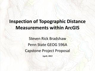 Inspection of Topographic Distance Measurements within ArcGIS