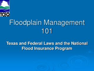 Floodplain Management 101
