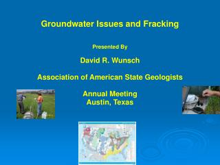 Groundwater Issues and Fracking