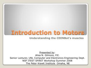 Introduction to Motors