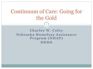 Continuum of Care: Going for the Gold