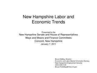 New Hampshire Labor and  Economic Trends