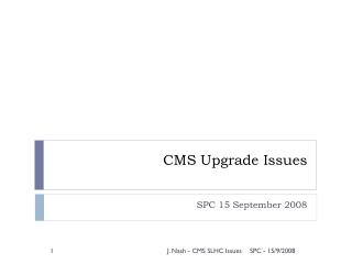 CMS Upgrade Issues