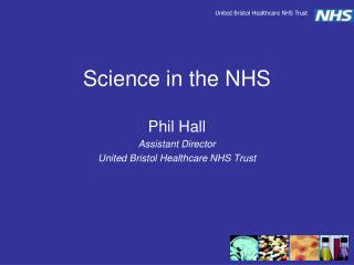 Science in the NHS