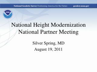 National Height Modernization National Partner Meeting