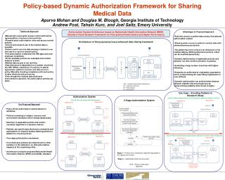 Policy-based Dynamic Authorization Framework for Sharing Medical Data