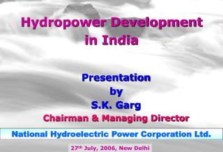 Hydropower Development in India