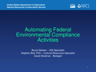 Automating Federal Environmental Compliance Activities