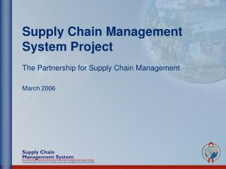 Supply Chain Management System Project