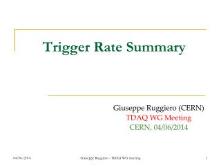 Trigger Rate Summary