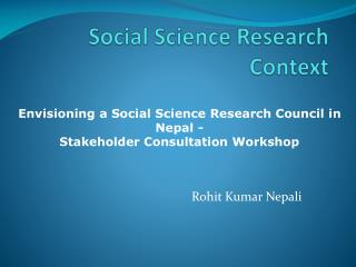 Social Science Research Context