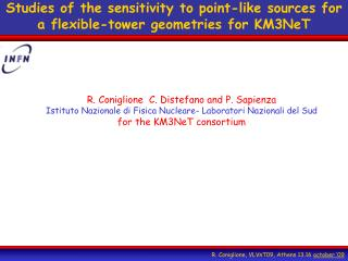 Studies of the sensitivity to point-like sources for a flexible-tower geometries for KM3NeT