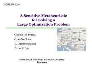 A Sensitive Metaheuristic  for Solving a  Large Optimization Problem